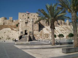 The Citadel, Aleppo, Syria, as it looked in August, 2010, when the faithful women visited.