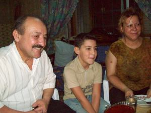 The Aziz family, refugees from Iraq living in Aleppo, Syria, August, 2010.