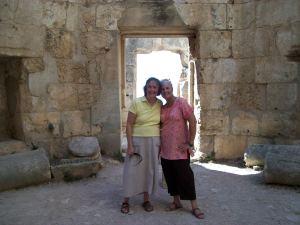 Me and Barbara at St. Simeon near Aleppo.