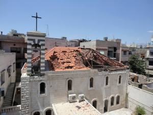 The Evangelical Presbyterian Church of Homs, Syria, May, 2014.