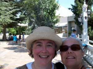 That is me and Barbara in front of a cedar tree in the mountains above Beirut, red-faced due to the heat.