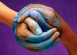 Peace hands world
