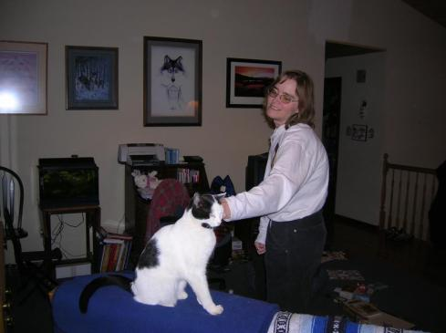 Cathy with cat