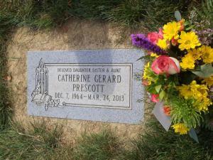 Cathy's headstone