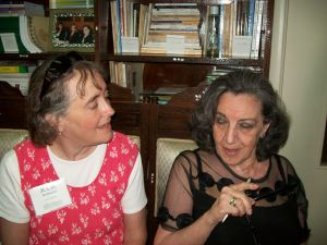 This is me and Colette Khoury, in her Damascus apartment on a hot day in August, 2010.