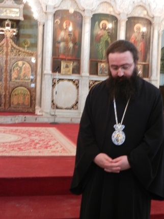 A Greek Orthodox priest in the patriarchate, Damascus, Syria, Jan. 2014
