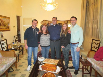 Assis Boutrous Zaour, his wife Wafa and their three children, all amazing young people!