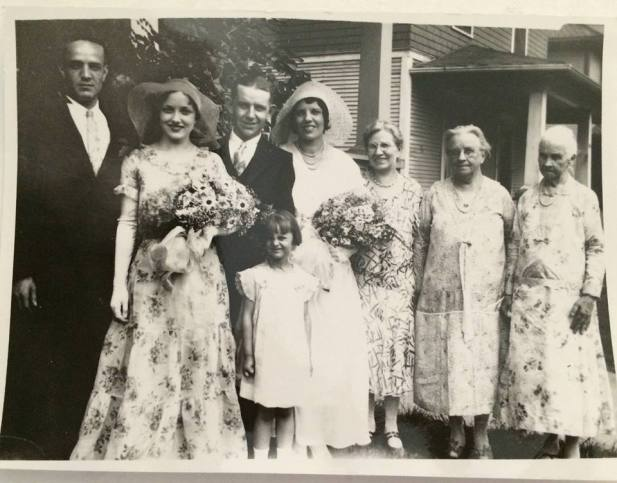 Grandma Thirtle's wedding day