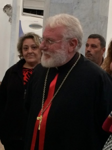 Msgr. Kassab, bishop of the Syrian Catholic Cathedral of the Holy Spirit, Homs, Syria.