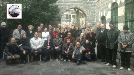 Homs Christians with Fr Frans