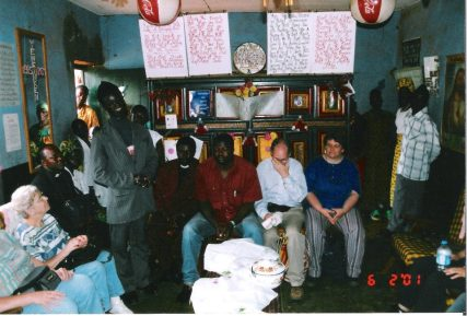 Inside Joe Mbiy's home in Kumbo, Cameroon, summer 2001. This was the second time I had met Joe. The first was in Germany the year before. He has now completed seminary and been ordained as a pastor in the Presbyterian Church of Cameroon.