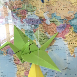 Paper cranes Micah 6 8