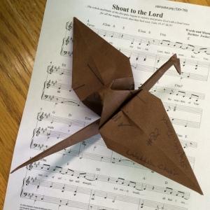 Paper cranes Shaheen Tomeh