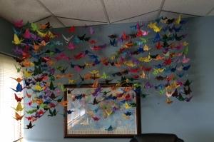 Paper cranes 323 total