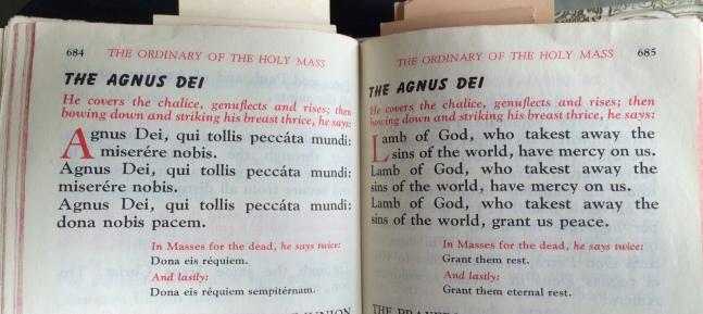Mom's missal Agnus Dei