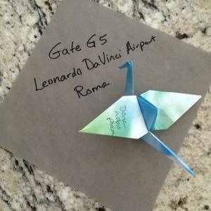 Paper crane gate G5 Rome