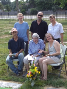 Six siblings at the memorial service for the seventh, our baby sister Cathy.