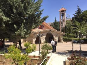 The Presbyterian church in Bloudan, Syria.
