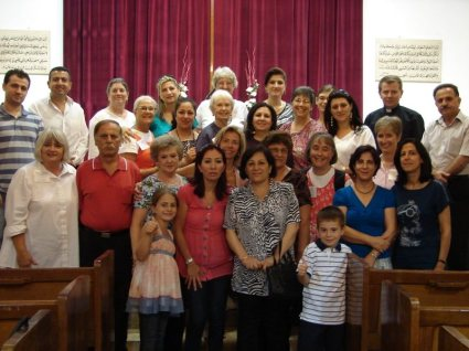 With the Presbyterian church in Aleppo, Syria, August, 2010.