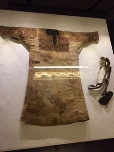 13th century children's clothing in the Beirut National Museum